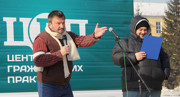 Олег Безруких на митинге против повышения тарифов ЖКХ в Красноярске