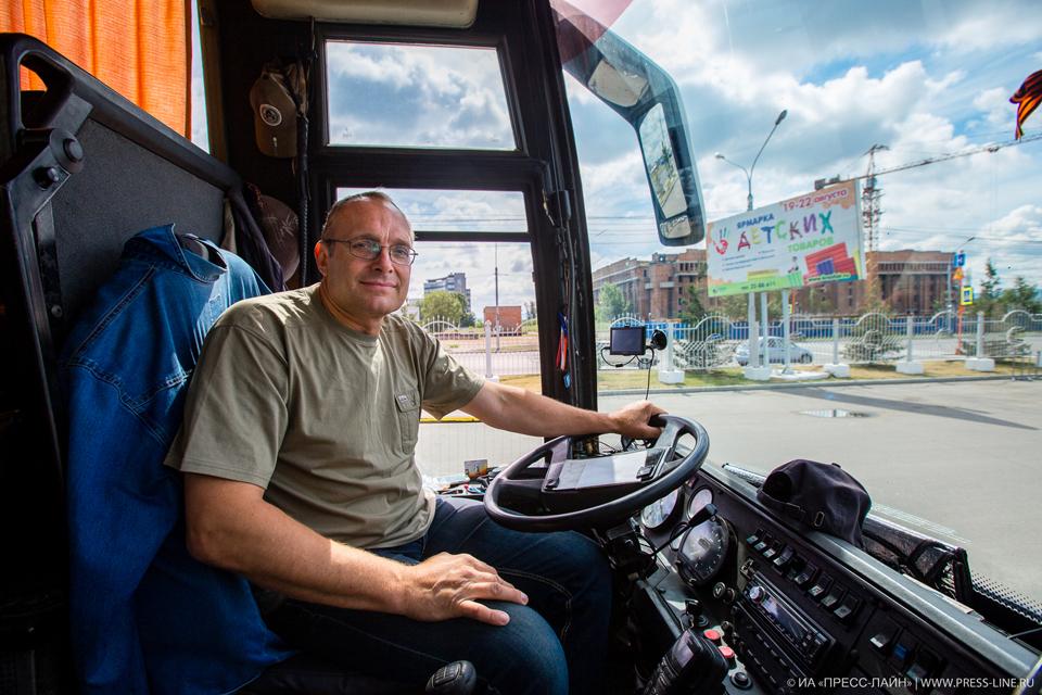 Водитель фестивального автобуса Александр