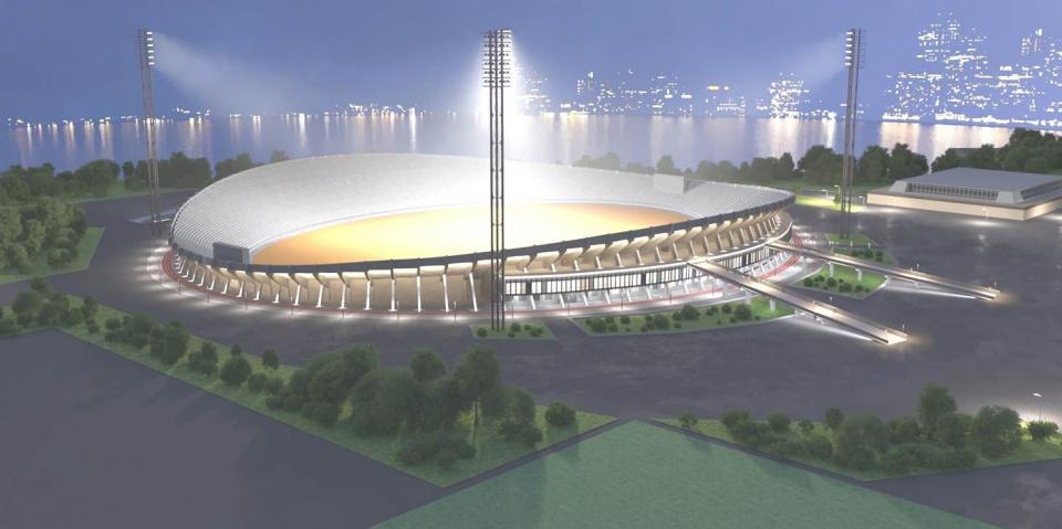 kraysport.ru: сейчас Центральный стадион находится на реконструкции, работы планируют завершить осенью