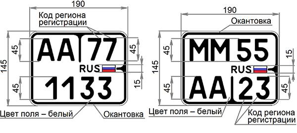 Слева - для внедорожных транспортных средств, справа  -для мопедов