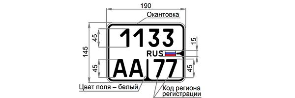 kommersant.ru: Регистрационный знак для мотоциклов